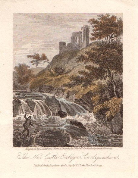 An antique line engraving by T. Mathews after I. Hassell. Published in 1817. Later coloured by hand.