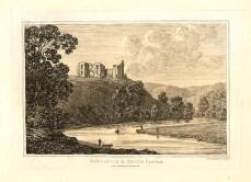 """An antique etching, which was drawn and etched by John George WOOD to accompany his """" The Principal Rivers of Wales"""" which was published in 1813."""