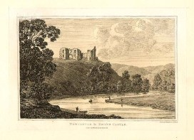 "An antique etching, which was drawn and etched by John George WOOD to accompany his "" The Principal Rivers of Wales"" which was published in 1813."